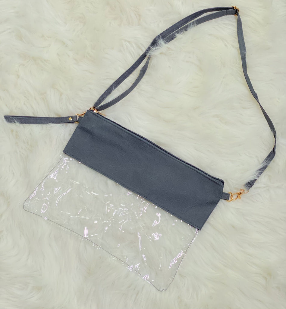 Grey Stadium Crossbody Bag - Nico Bella Boutique