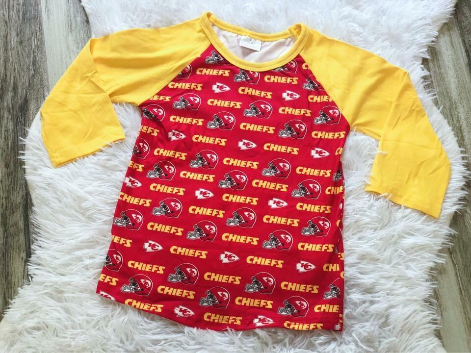 Chiefs Unisex Raglan - Nico Bella Boutique