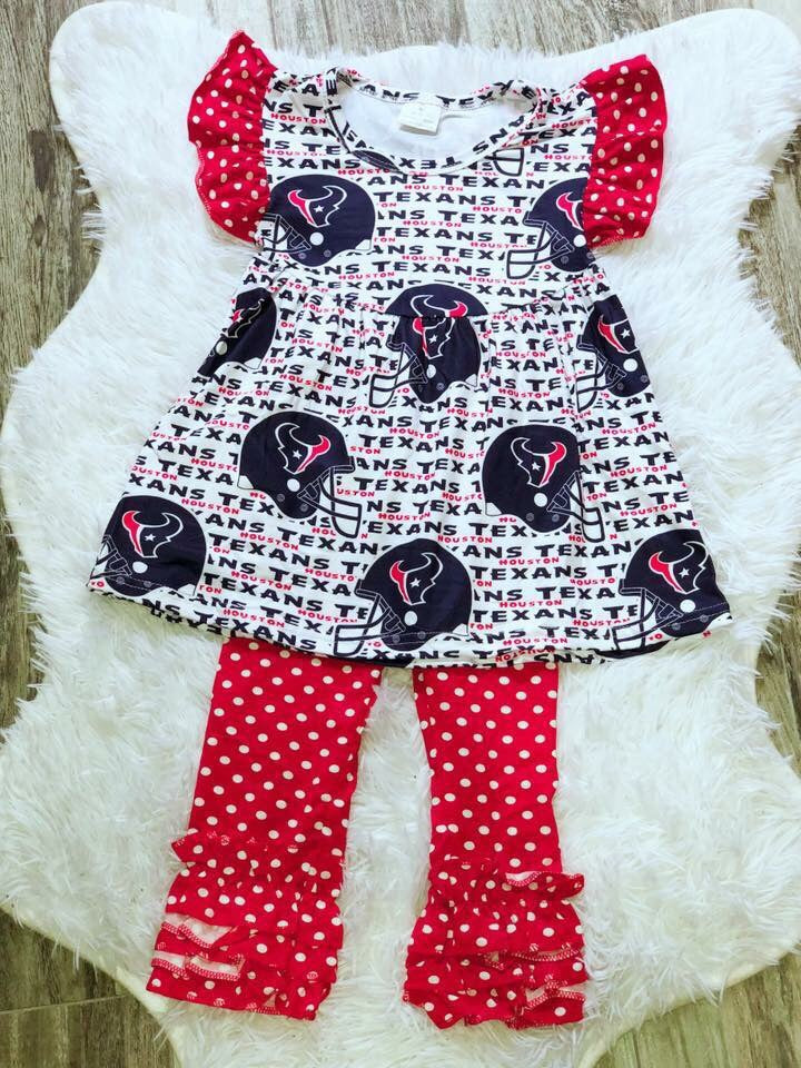 Houston Texans Girls Pant Set - Nico Bella Boutique