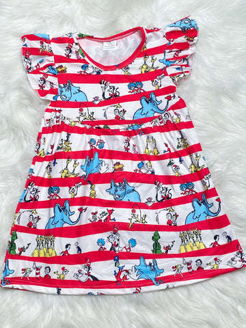 Dr. Seuss Pearl Dress - Nico Bella Boutique