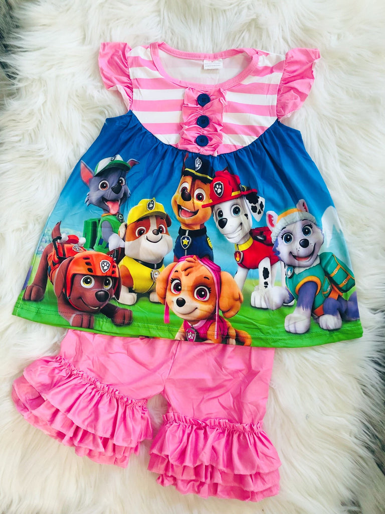 Paw Patrol Short Set - Nico Bella Boutique