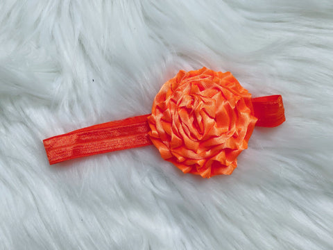Orange Rose Flower Headband - Nico Bella Boutique