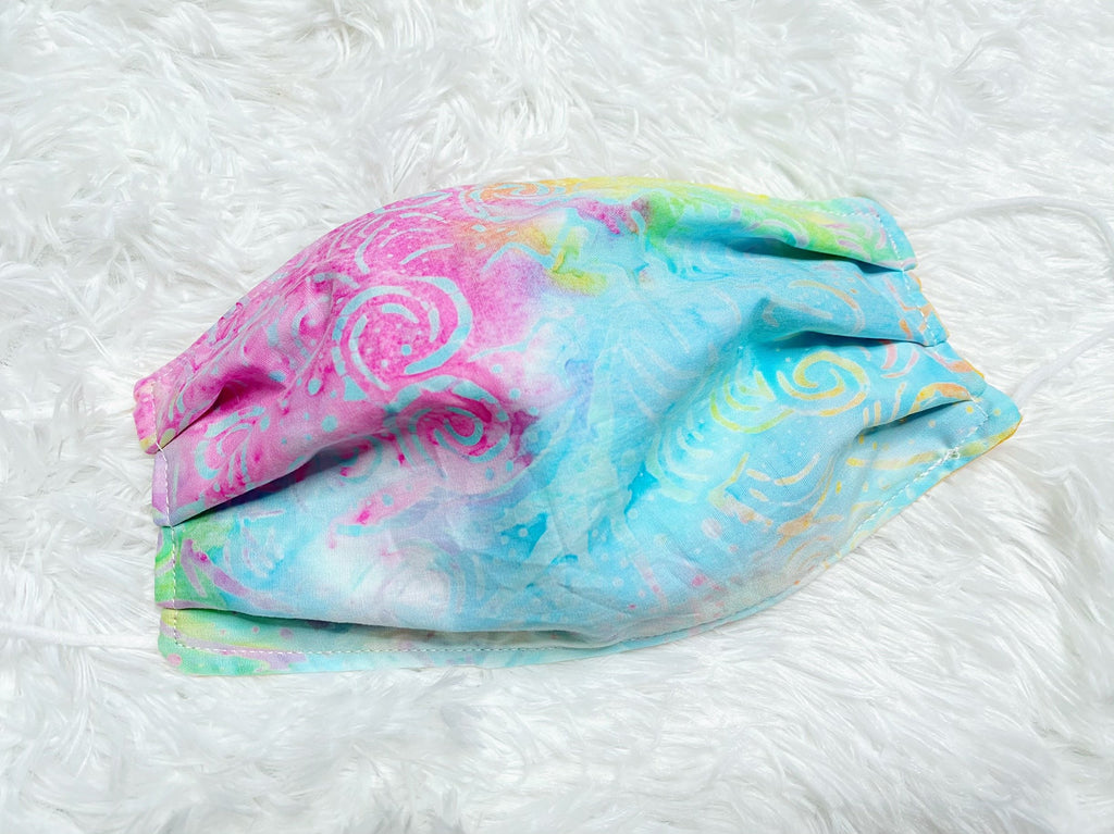 Adult Pastel Tie Dye Face Mask - Nico Bella Boutique