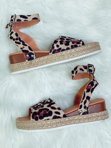 Leopard Platform Sandals - Nico Bella Boutique