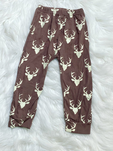 Brown Buck Pants - Nico Bella Boutique