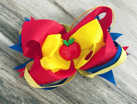 Apple Center Bow - Nico Bella Boutique