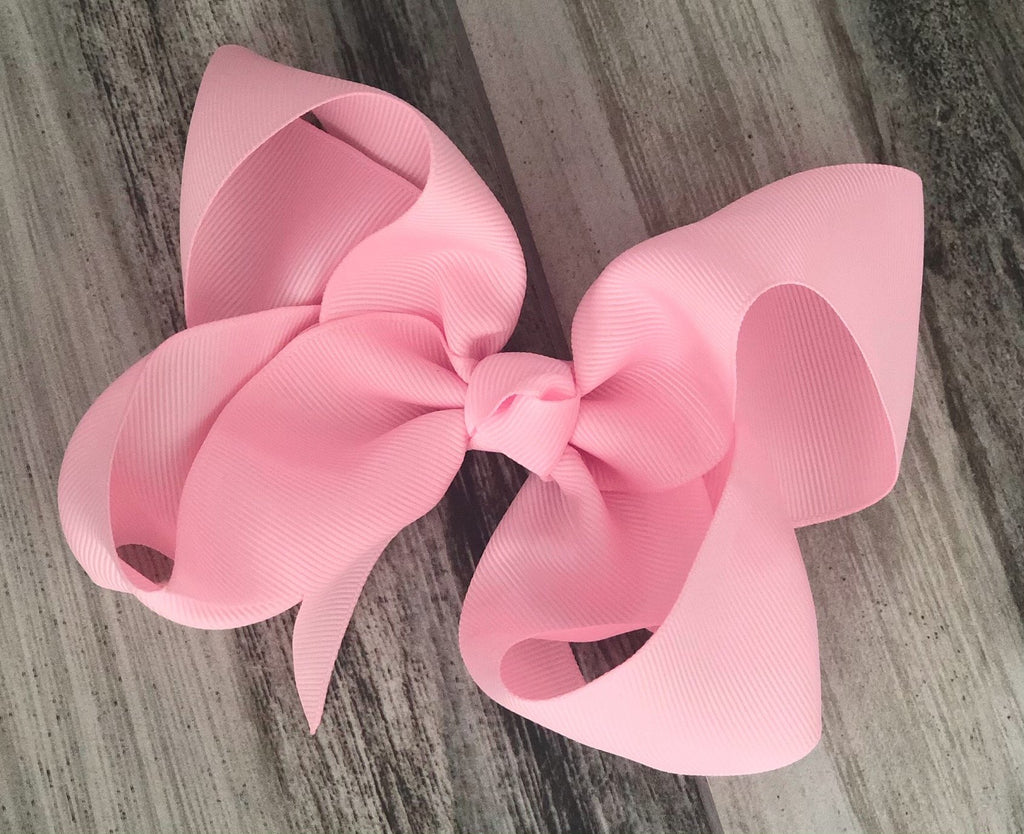 Light Pink Girls Hair Bow - Nico Bella Boutique