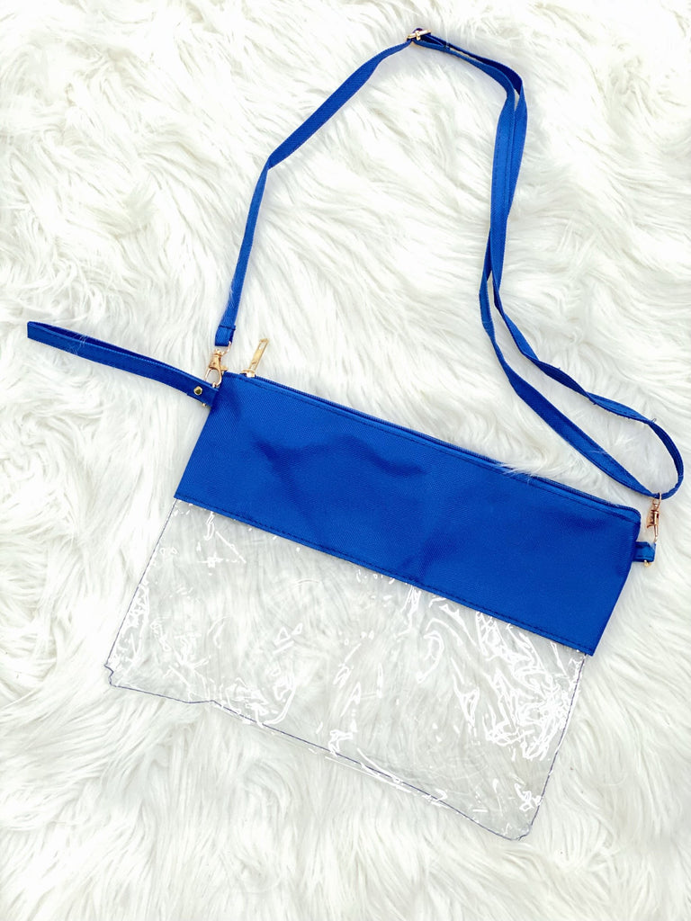 Blue Stadium Crossbody Bag - Nico Bella Boutique