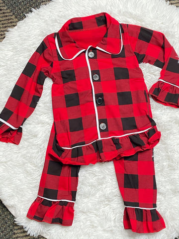 Buffalo Plaid Girls Pajamas