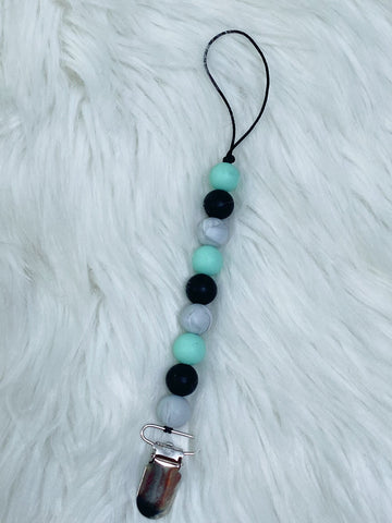 Silicone Beaded Pacifier Clip - Nico Bella Boutique