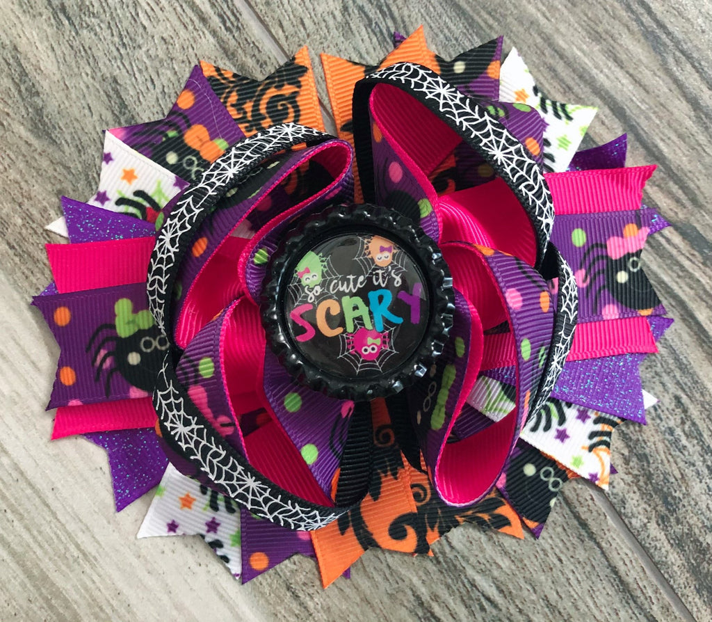 So Cute it's Scary Hair Bow - Nico Bella Boutique