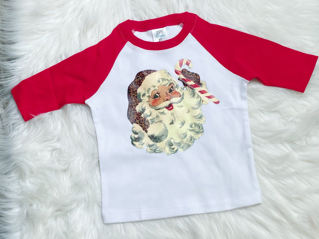 Vintage Santa Graphic Raglan - Nico Bella Boutique