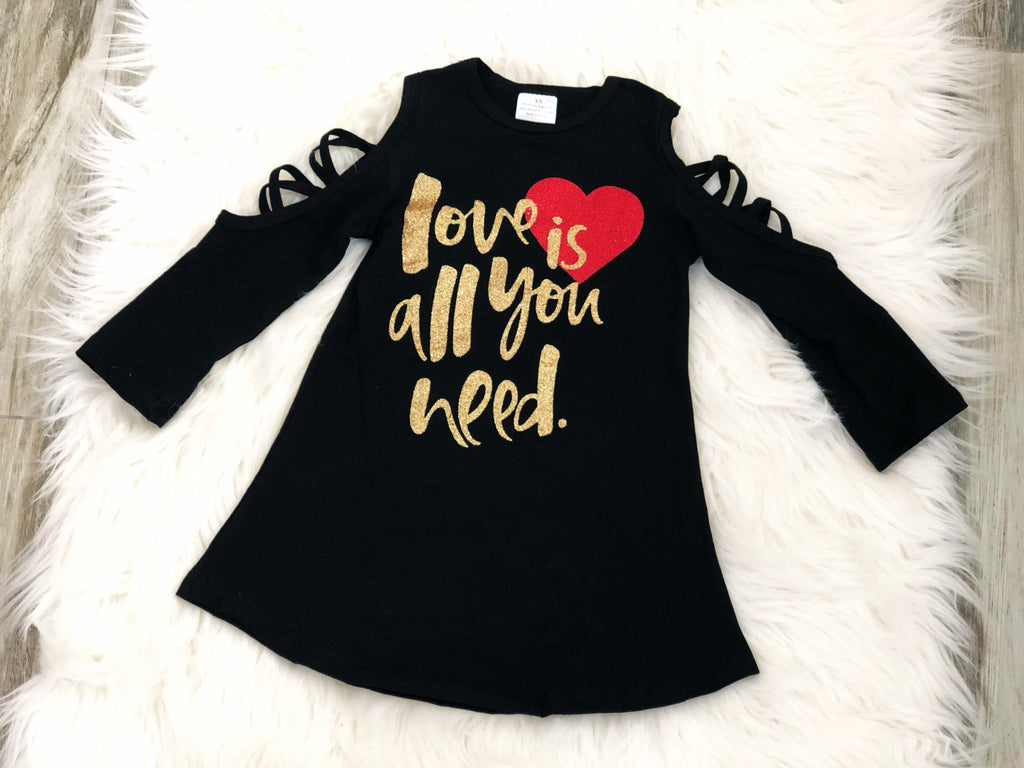 Girls Love is all you need dress - Nico Bella Boutique