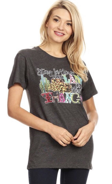 Stay in Your Own Lane Do Your Own Thang Graphic Tee - Nico Bella Boutique
