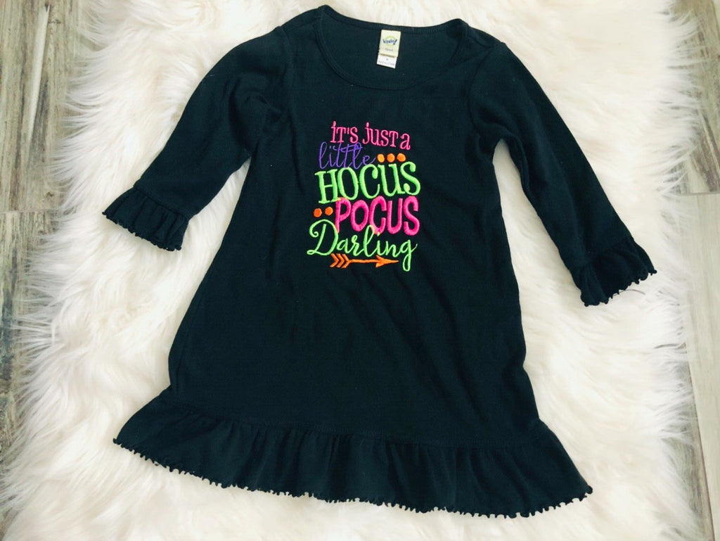 It's Just a Little Hocus Pocus Darling Embroidered Ruffle Dress - Nico Bella Boutique