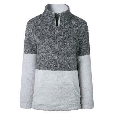 Women's Dark Grey Color Block Sherpas - Nico Bella Boutique