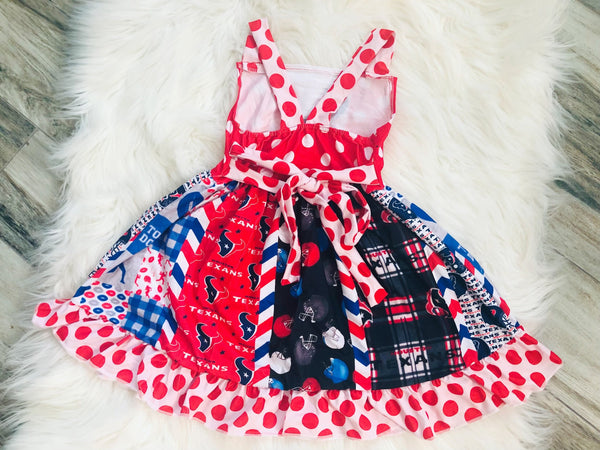 Ultimate Houston Texans Twirl Dress - Nico Bella Boutique
