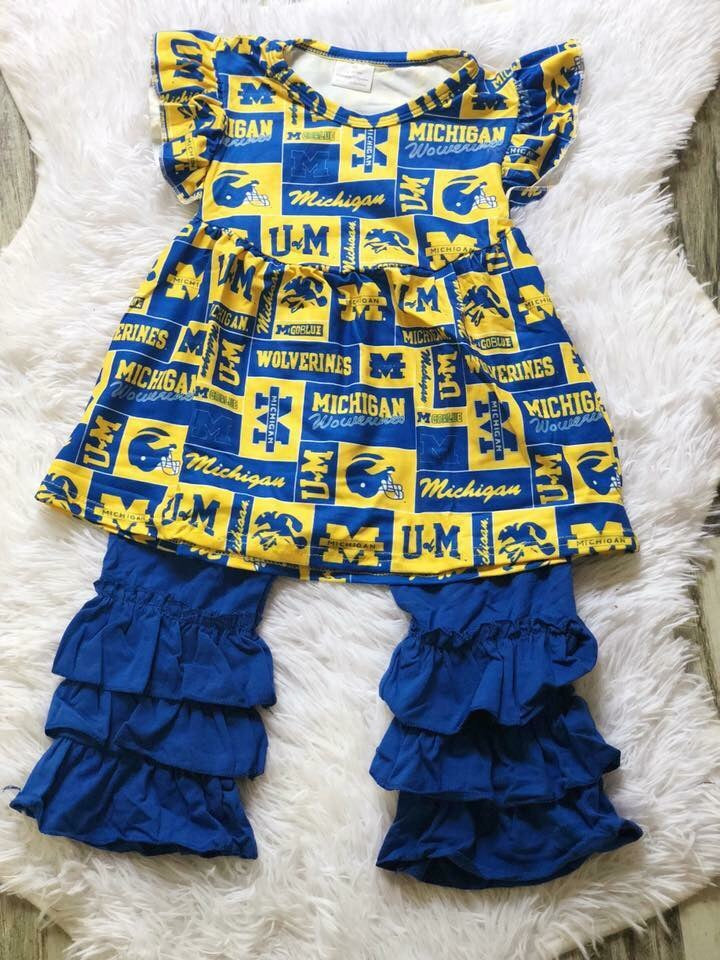 Michigan Girls Icing Pant Set - Nico Bella Boutique