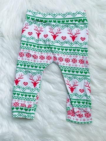 Christmas Print Pants - Nico Bella Boutique