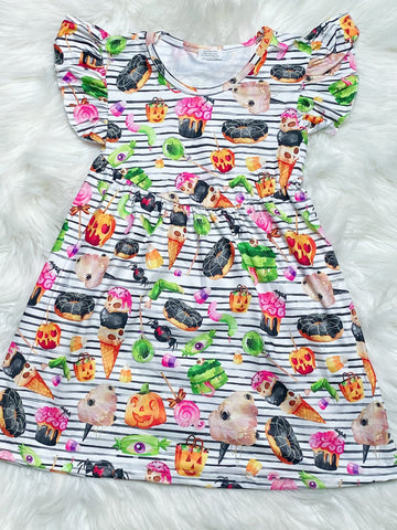 Spooky Halloween Treats Pearl Dress - Nico Bella Boutique