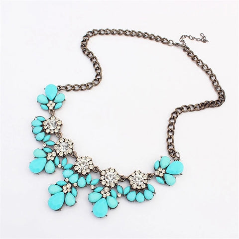 Turquoise Gem Statement Necklace - Nico Bella Boutique