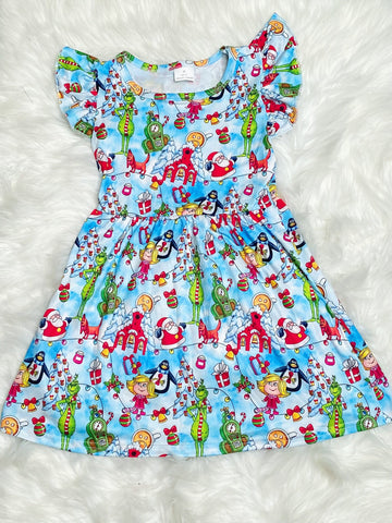 Grinch Christmas Pearl Dress - Nico Bella Boutique