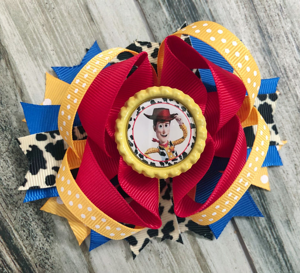 Woody Toy Story Hair Bow - Nico Bella Boutique