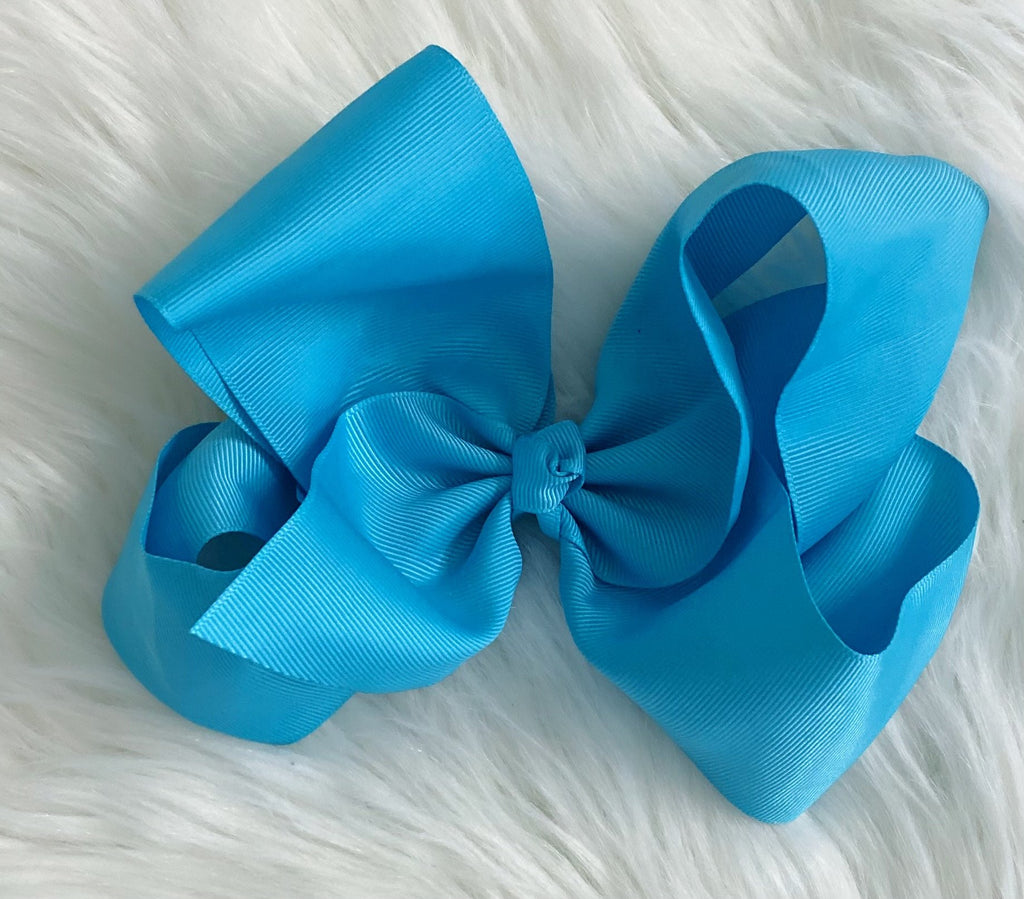 Turquoise 8 inch Bow - Nico Bella Boutique