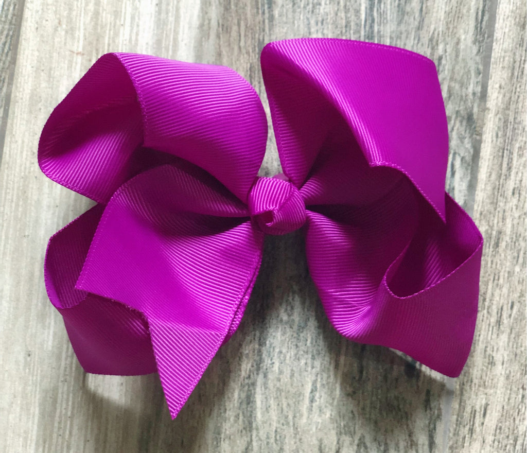 Purple Girls Hair Bow - Nico Bella Boutique