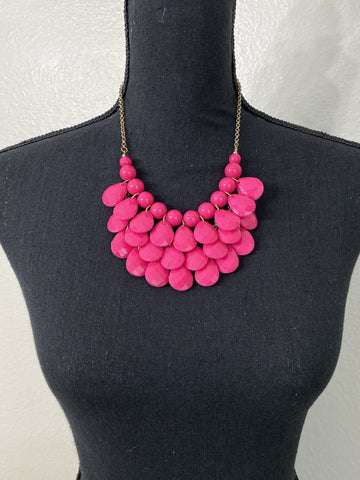 Hot Pink Teardrop Necklace - Nico Bella Boutique