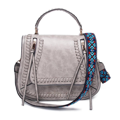 Light Grey Guitar Strap Crossbody Purse - Nico Bella Boutique