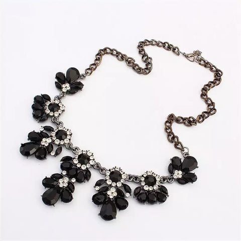 Black Gem Statement Necklaces - Nico Bella Boutique