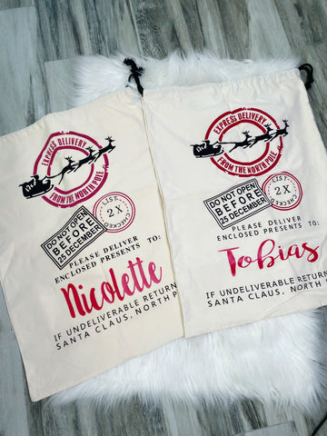 Personalized Sleigh Santa Sack - Nico Bella Boutique