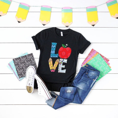 LOVE Teaching Graphic Tee - Nico Bella Boutique