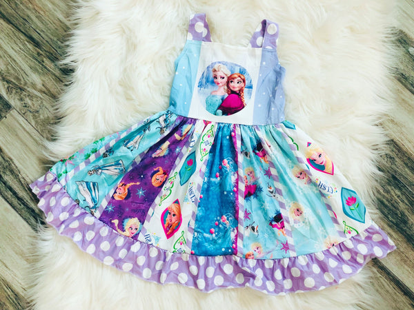 Ultimate Frozen Princess Twirl Dress - Nico Bella Boutique