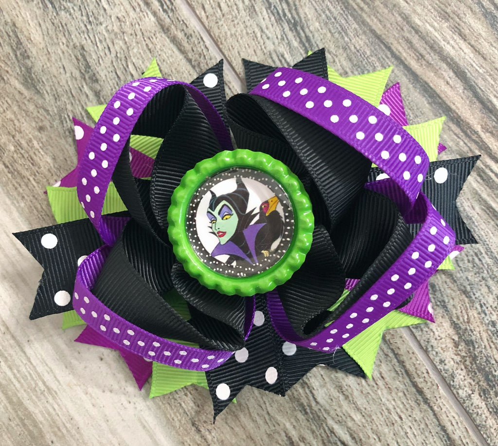 Maleficent Hair Bow - Nico Bella Boutique