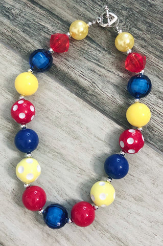 Primary Bubblegum Necklace - Nico Bella Boutique