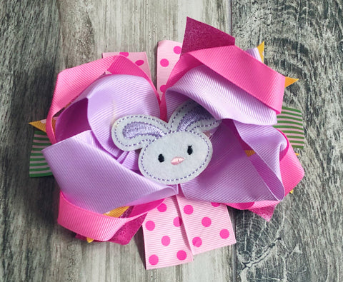 Bunny Girls Hair Bow - Nico Bella Boutique