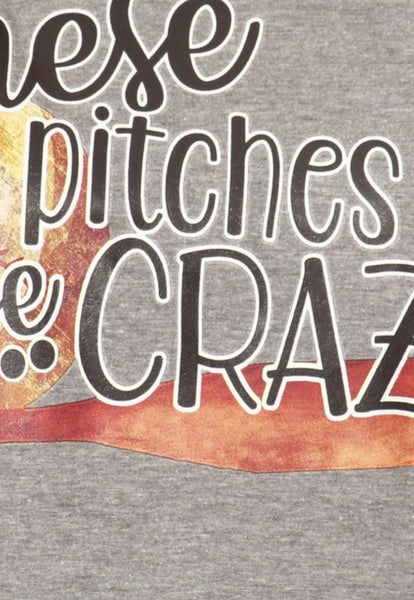 These Pitches Be Crazy Baseball Graphic Tee - Nico Bella Boutique