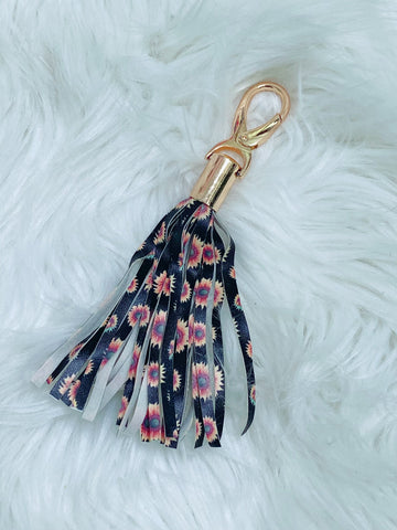 Sunflower Tassel Keychain - Nico Bella Boutique