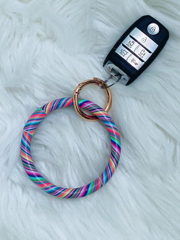 Serape Wristlet Bangle Keychain - Nico Bella Boutique