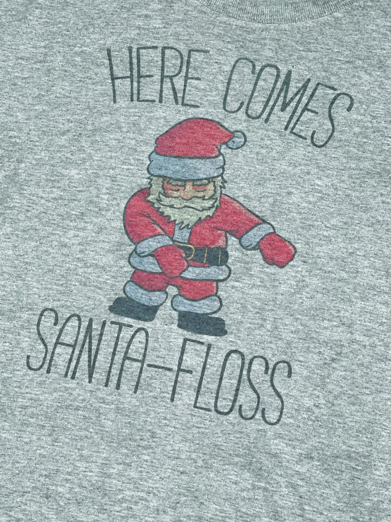 Here Comes Santa Floss Boys Long Sleeve Graphic Tee - Nico Bella Boutique
