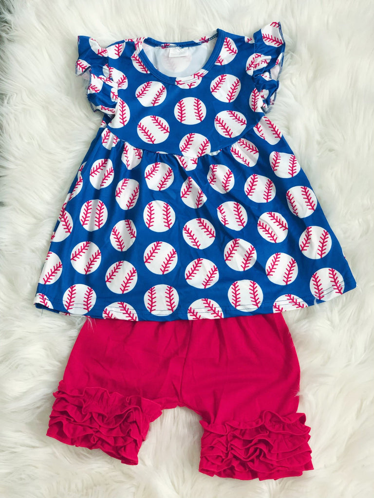 Baseball Short Set - Nico Bella Boutique