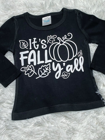 It's Fall Y'all Girls Long Sleeve Shirt