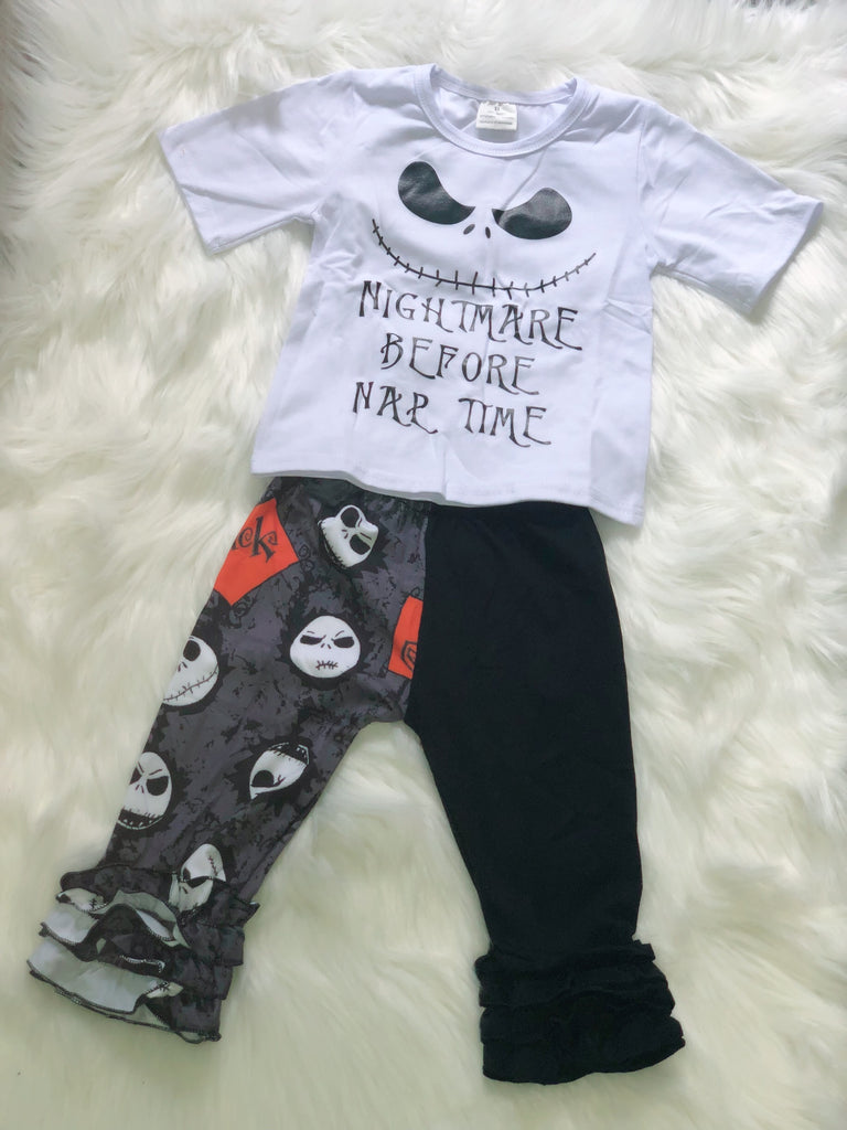 Nightmare Before Nap Time Girls Set - Nico Bella Boutique