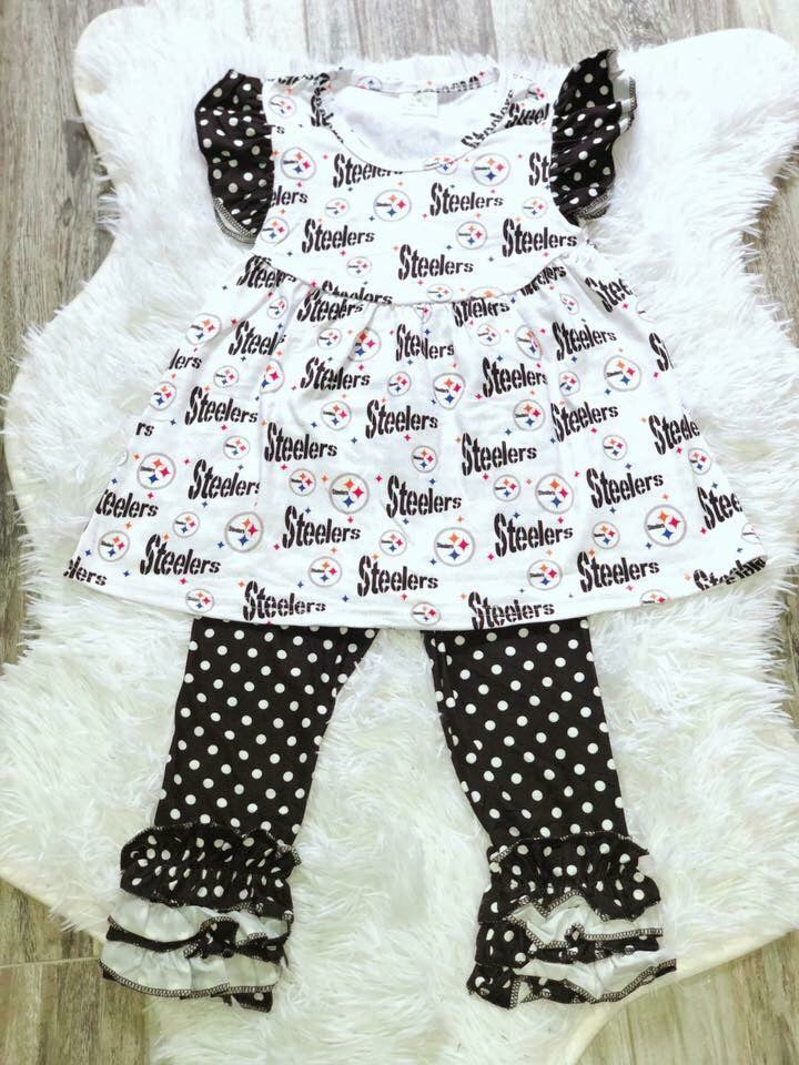 Steelers Girls Pant Set - Nico Bella Boutique