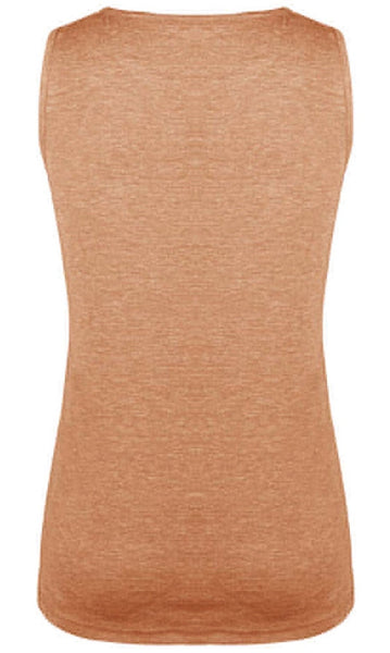 Orange Twist Hem Tank - Nico Bella Boutique