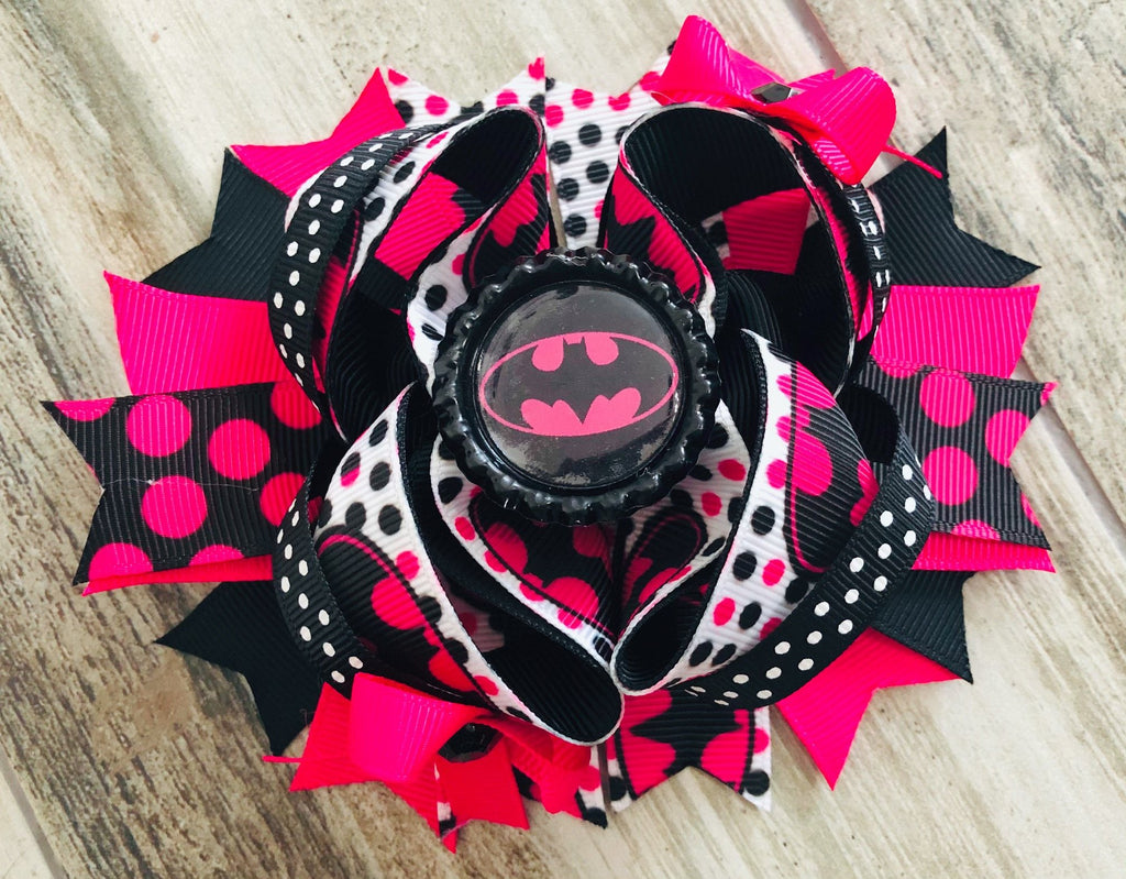Batman Hair Bow - Nico Bella Boutique