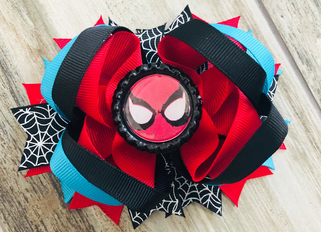 Spiderman Hair Bow - Nico Bella Boutique