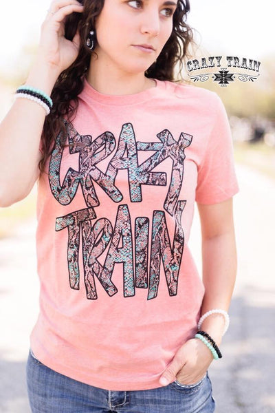 Crazy Train Punchy Python Graphic Tee - Nico Bella Boutique